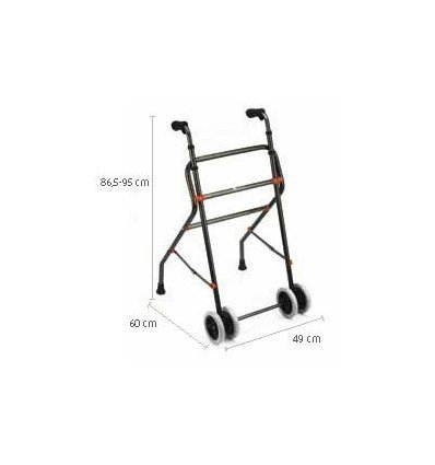 Andador de aluminio con ruedas