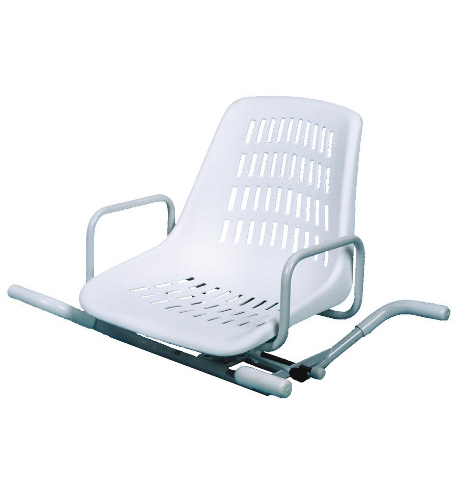 silla giratoria para ba era de acero inoxidable